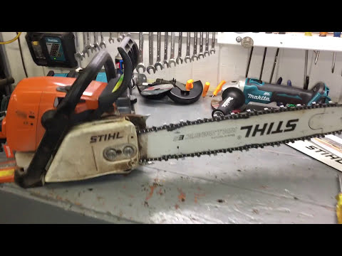How to determine if your chainsaw bar is worn
