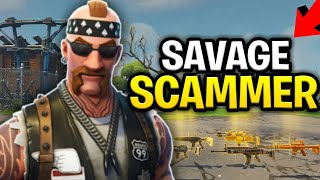 Savage Scammer Loses Inventory! 130s, (Scammer Get Scammed) Fortnite Save The World