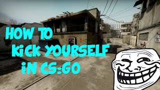 How to kick yourself in CS:GO