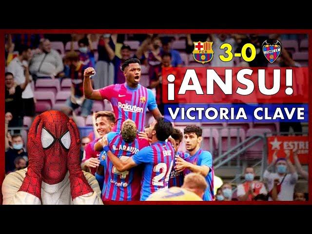BARÇA 3-0 LEVANTE 🔥 UN BUEN BARÇA con ANSU y sin KOEMAN