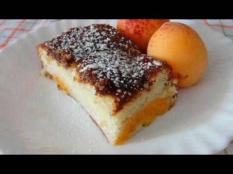 Пирог с абрикосами - самый простой рецепт