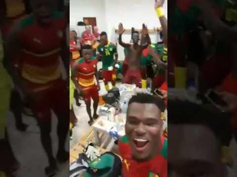 Post celebration Cameroon vs Ghana