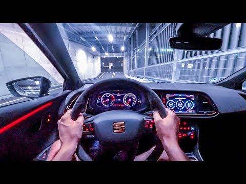 2019 Seat Leon Cupra R ST (300PS) NIGHT POV DRIVE Onboard (60FPS)
