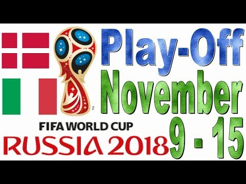 World Cup 2018 Qualifications European (UEFA) PLAY-OFF Predictions (November 9 - 15, 2017)