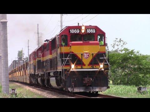 All EMD Power! Panama Canal Railway Stack Train at Corozal - Panama City (April 24, 2017)