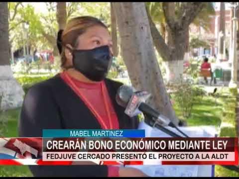 CREARÁN BONO ECONÓMICO MEDIANTE LEY