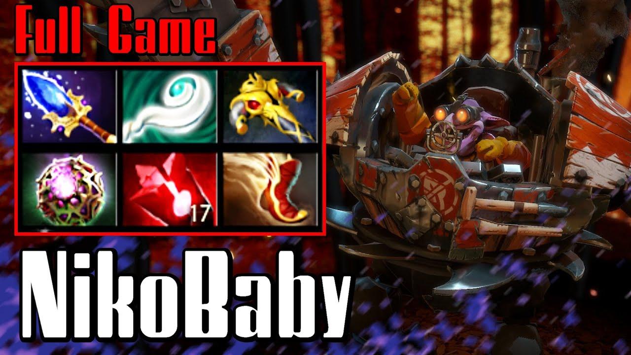 nikobaby timbersaw dota 2 full game pub 7000 mmr youtube