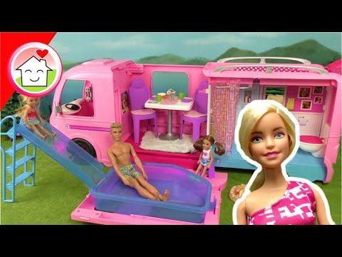 Barbie Film Camper - Abenteuer Camper - Video für Kinder von Familie Hauser - Unboxing