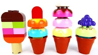 Lego Toy Duplo Ice Cream Cones, Popsicle, And Ice Cream Bar Blocks