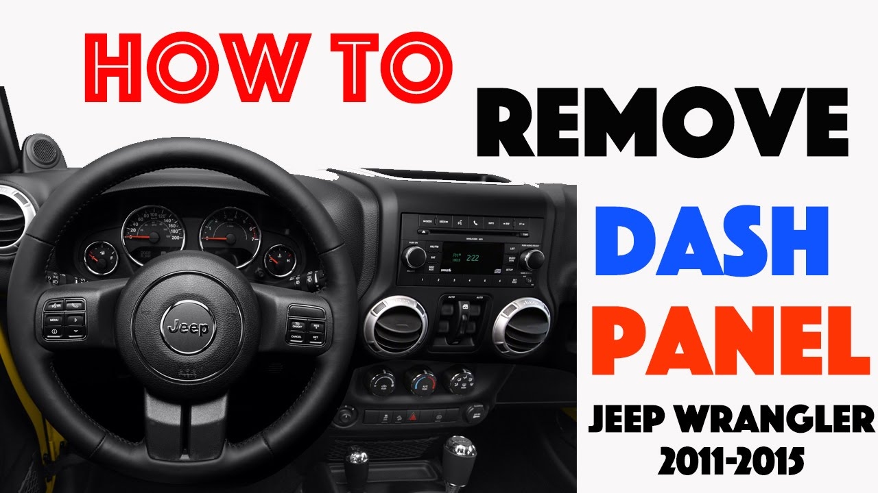 maxresdefault how to remove dash panels jeep wrangler 2011 2015 youtube 2011 jeep wrangler wiring harness at readyjetset.co