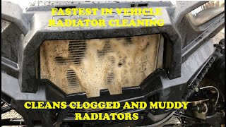 THE BEST NO SCRUBBING ATV UTV RZR Dirtbike Radiator cleaning In the RZR900