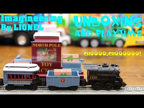 Children's Toy Channel: Imagineering By LIONEL, The Polar Express Train Set Toy Unboxing