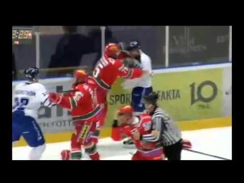 Hockeyfighters.cz  Stehlik vs Blomqvist.wmv