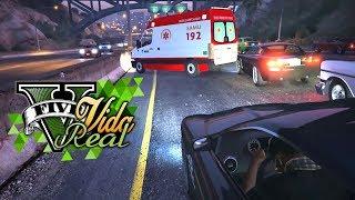 GTA V Vida Real: Me envolvi em um acidente #17 #BRODaria