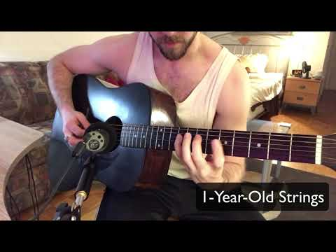 Comparing Old Acoustic Guitar Strings to Fresh Ones