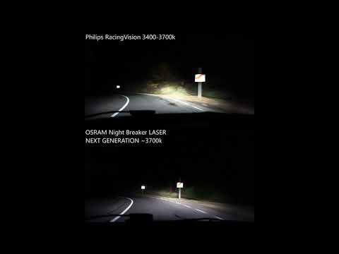 Bosch Gigalight Plus 120 Vs Osram Nightbreaker Unlimited Youtube