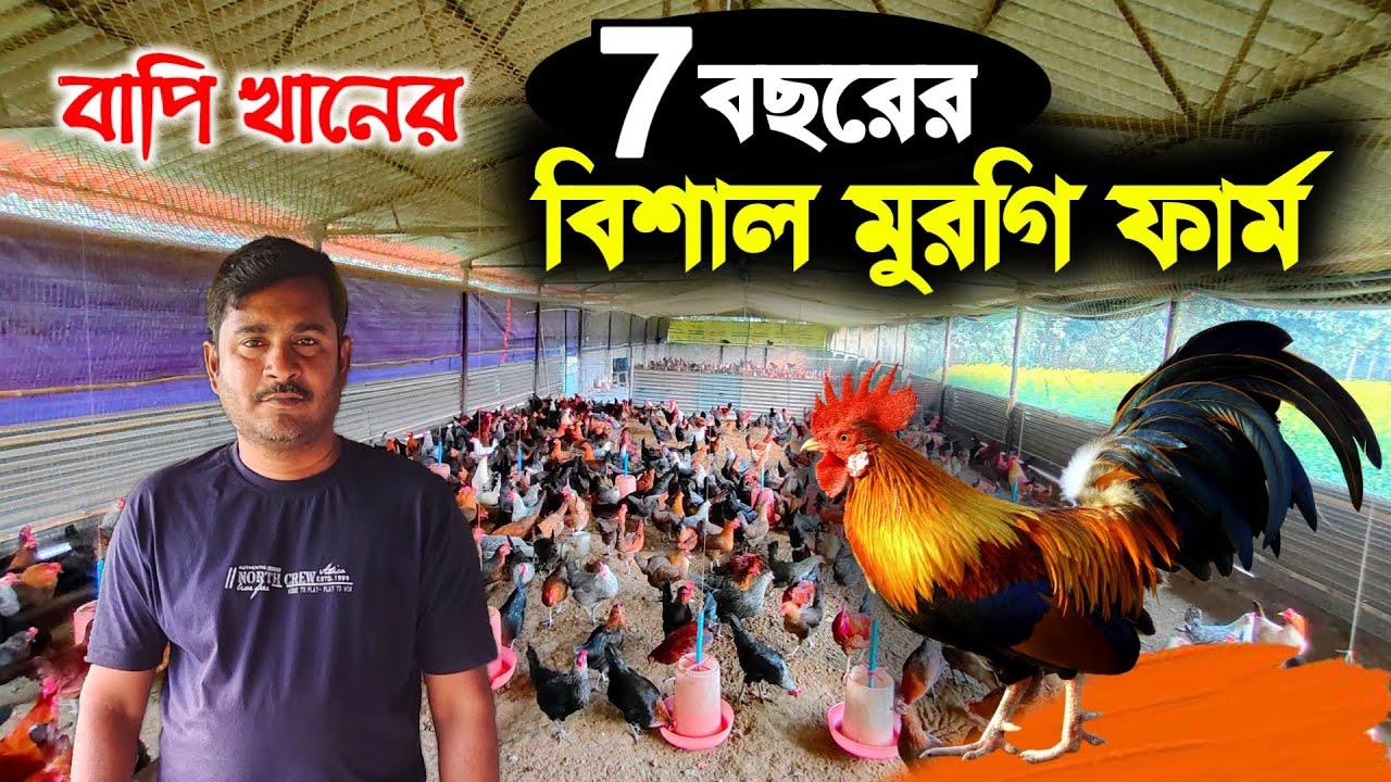 বাপি খানের 7 বছরের বিশাল মুরগির ফার্ম | Big Murgi Farming in West Bengal |