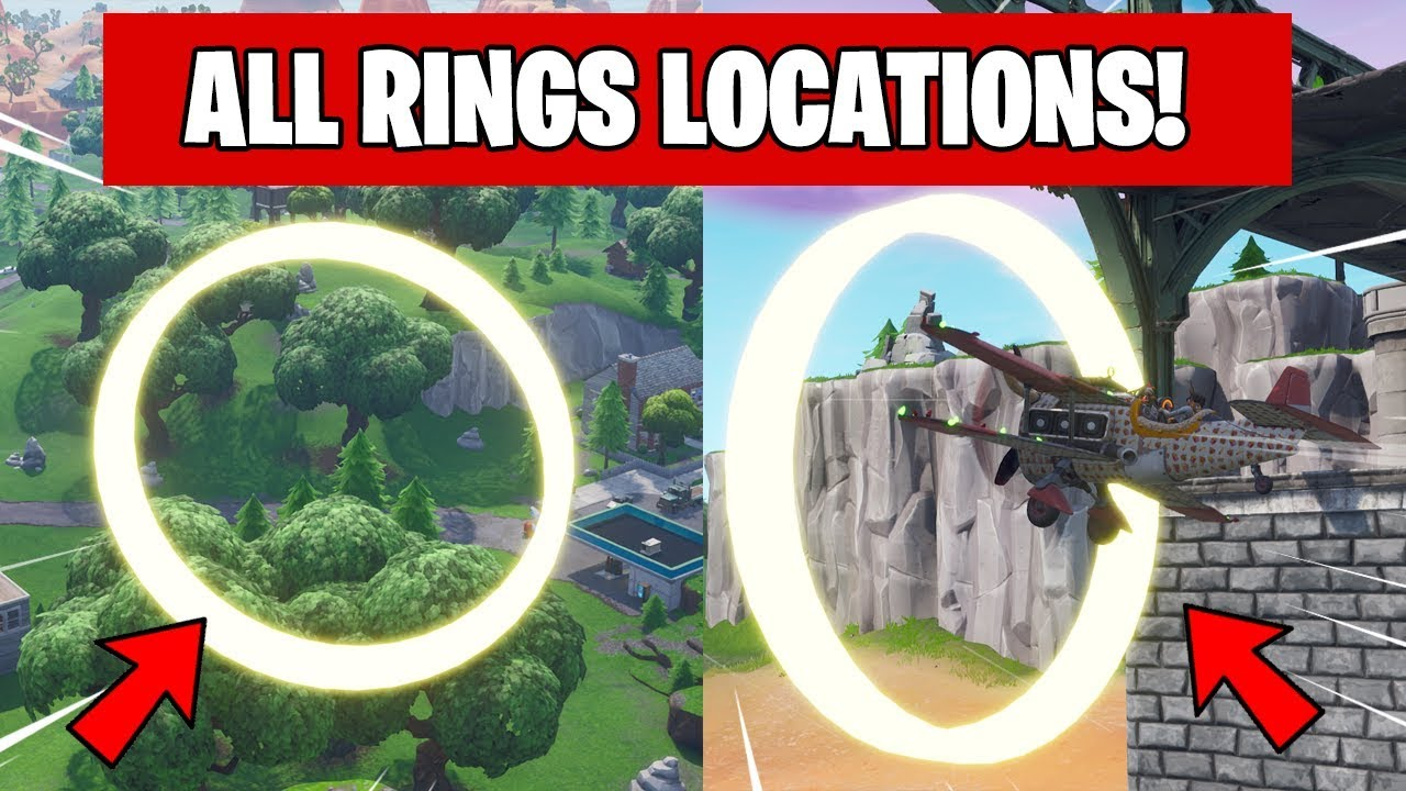 Fly Through Golden Rings In An X 4 Stormwing Plane In Fortnite All