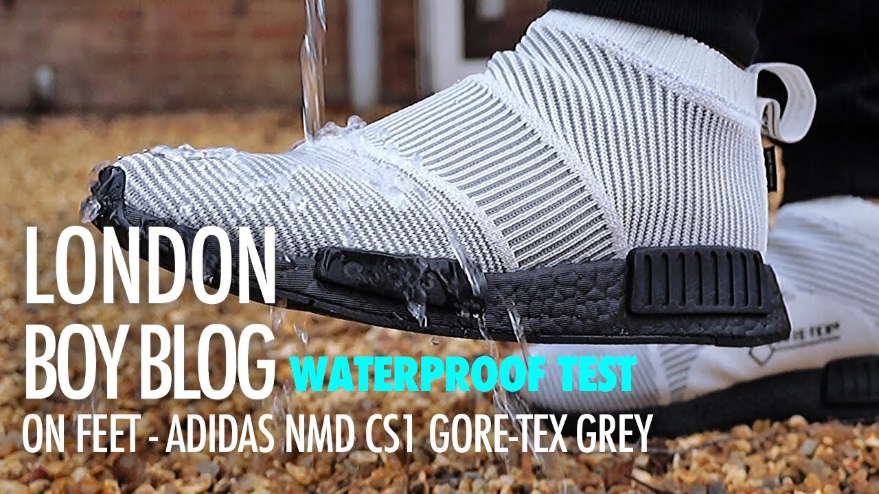 d6762f39d ON FEET WATERPROOF TEST - Adidas NMD CS1 Gore-Tex - YouTube