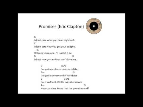 Promises by Eric Clapton Easy Guitar Chords - YouTube