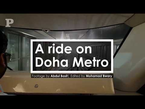 A ride on Doha Metro