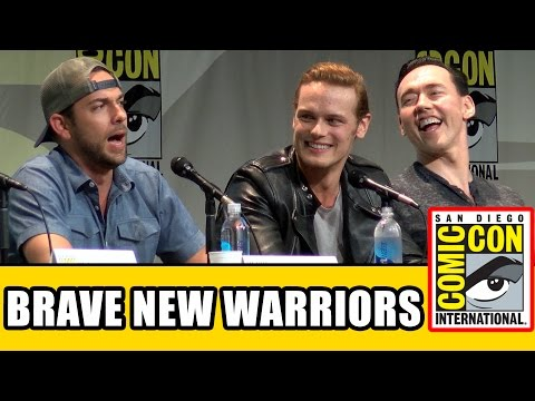 Brave New Warriors Comic Con Panel  Sam Heughan, Zachary Levi, Kevin Durand, Robert Kazinsky