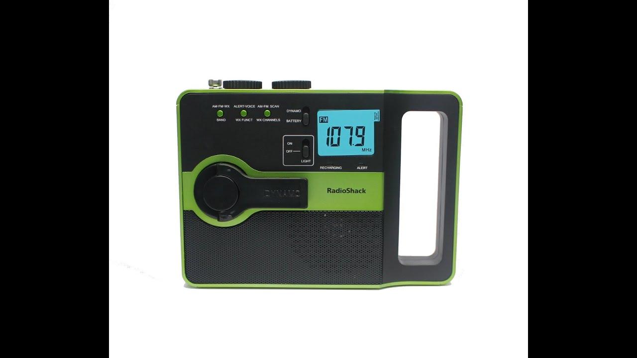 radio shack emergency crank radio