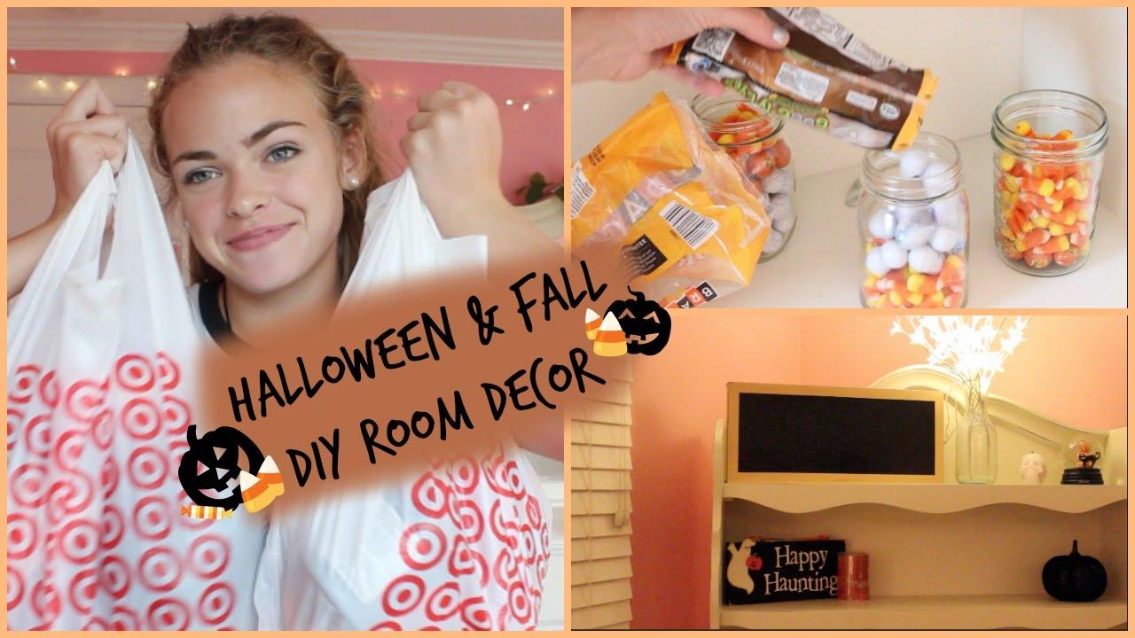 Diy Fall Halloween Room Decor🍂🎃 Summer Mckeen Youtube
