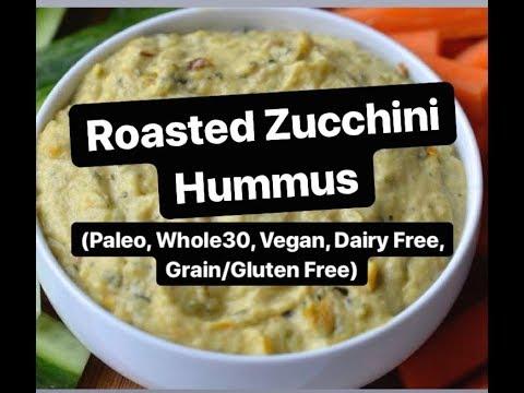 Roasted Zucchini Hummus (Whole30, Vegan, Paleo)