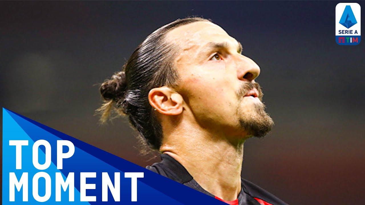 Zlatan Scores Milan's First Goal Of The Season   Milan 2-0 Bologna   Top Moment   Serie A TIM