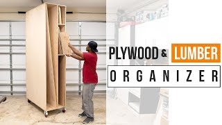 DIY STORAGE for lumber (DIY Woodworking Shop project)