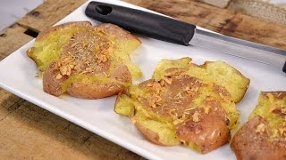 How to Make Smashed Potatoes - Rosemary Garlic Potatoes  RadaCutlery.com