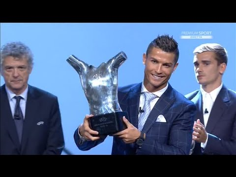 Cristiano Ronaldo wins 2016! UEFA Best Player of Europe ceremony & speech!
