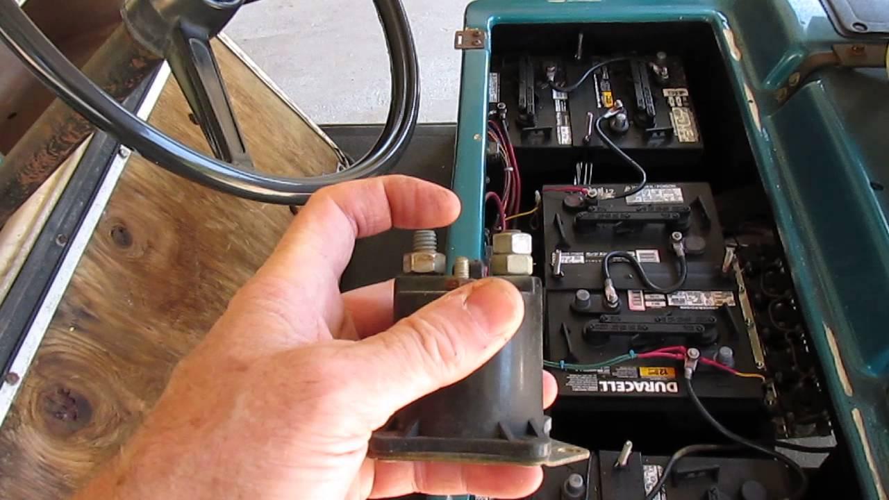 2008 Ezgo Golf Cart 36 Volt Light Wiring Diagram Club Car Electric Golf Car Speed Control Relays Youtube