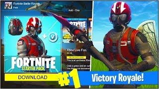 "*NEW* EPIC ""WINGMAN"" SKIN in Fortnite Battle Royale! (*NEW* ""WINGMAN STARTER PACK"" Gameplay UPDATE)"