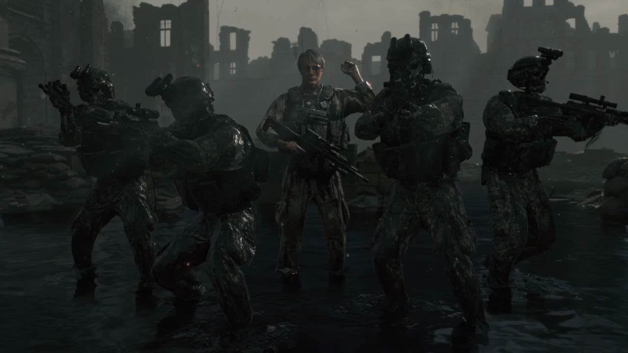 DEATH STRANDING - World War 2 Battlefield Boss Fight Clifford Unger (Mads Mikkelsen) - YouTube