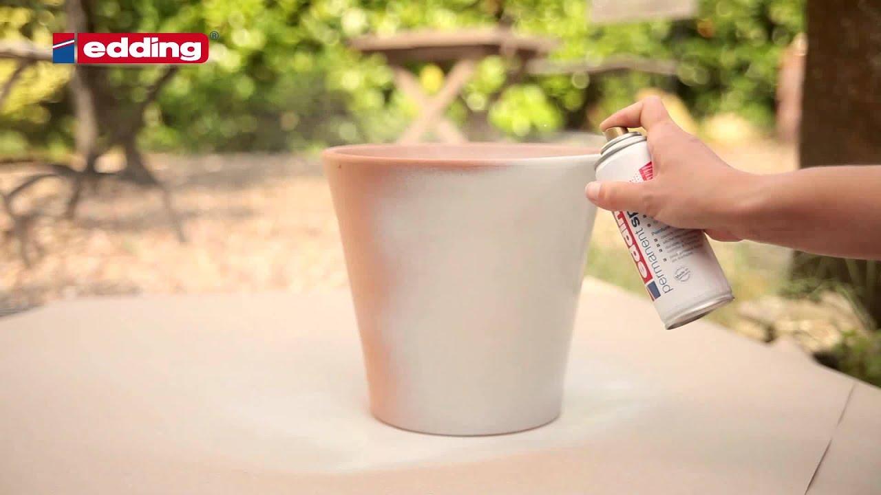 "edding permanent spray - tutorial ""terracotta"" - youtube"