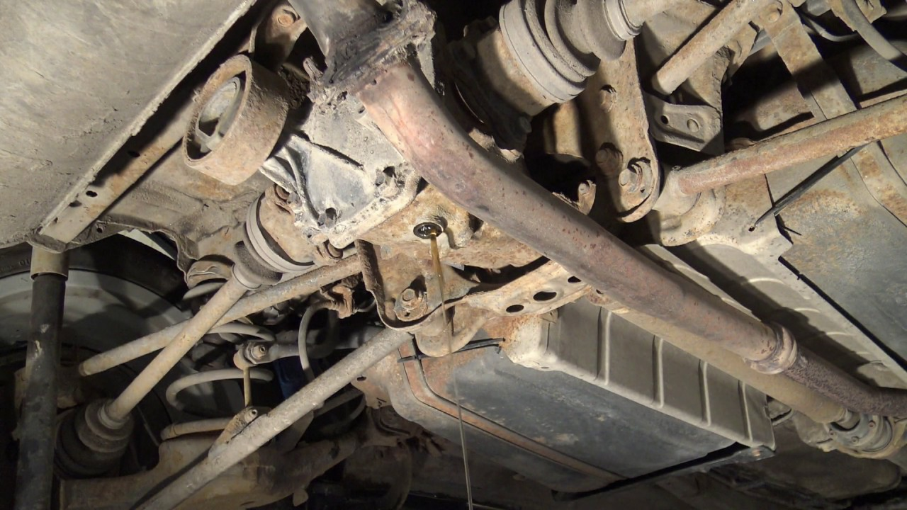 how to replace rear axle differential oil toyota rav4 part