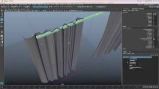 How to model a Curtain in Maya