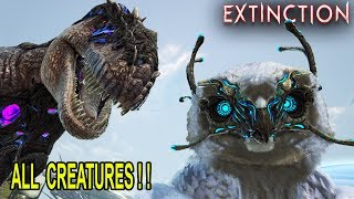 ALL EXTINCTION CREATURES!! CORRUPTED AS WELL !! Ark Survival Evolved Extinction