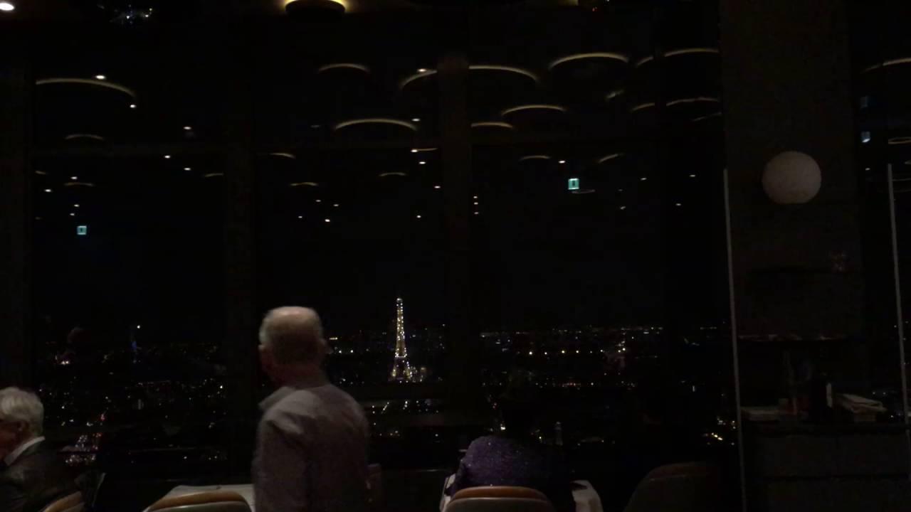 eiffel tower lighting view from le ciel de paris, tour