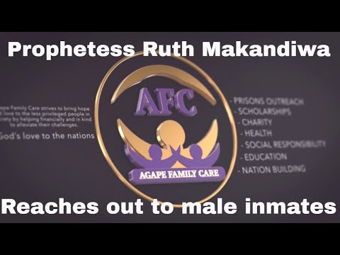 Prophetess Ruth Makandiwa reaches out to Male Inmates