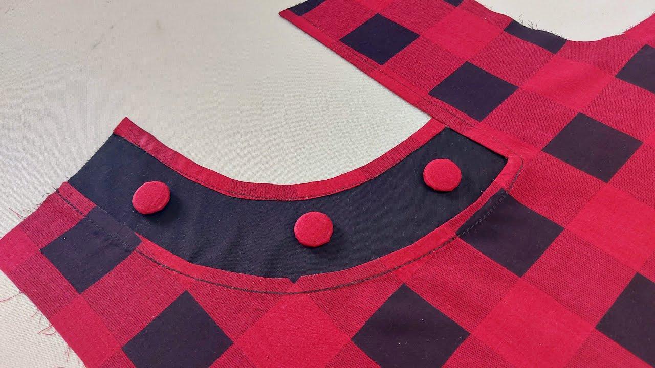 موديل الزعلانة رقيق وبسيط - Very beautiful  blouse design cutting and stitching very easy method