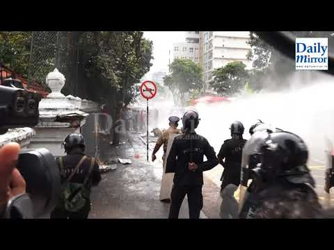 Police tear gas IUBF protest