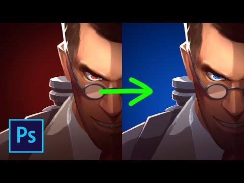Как поменять цвет картинки в фотошопе