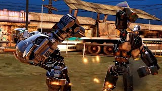 REAL STEEL WRB Six Shooter VS Atom Gold & Zeus & Sarge & Bluebot