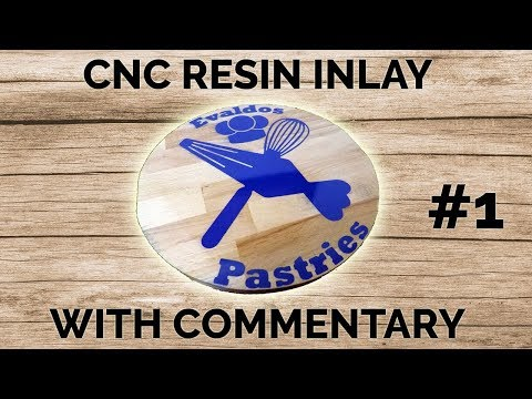 Machining A Cake Plate With Resin Inlay (With Commentary) // CNC Projects #1