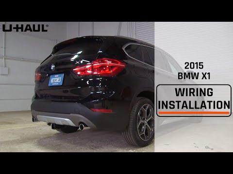 2015 bmw x1 trailer wiring install