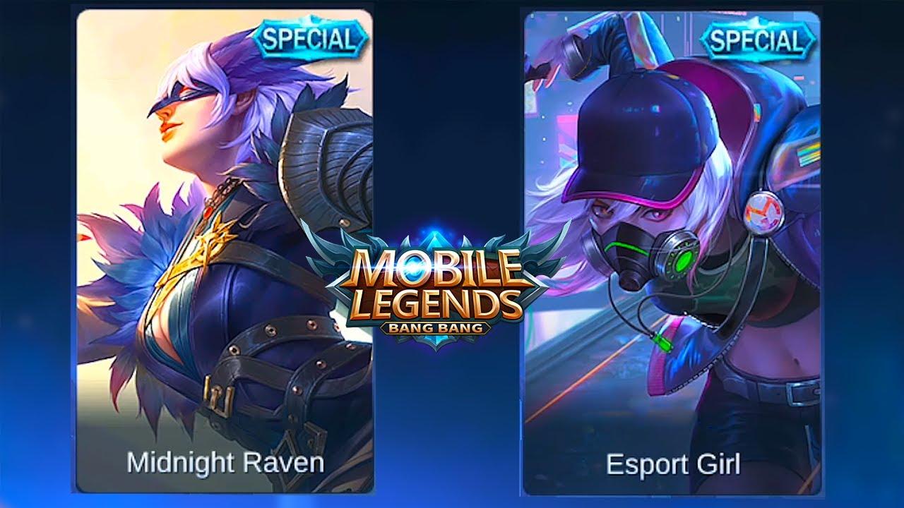 Natalia Cyber Spectre Skin Vs Midnight Raven Skin Mobile Legends Bang Bang Youtube