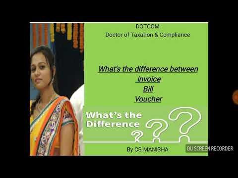 Invoice vs. Bill{difference among invoice, bill, voucher} |Manisha ¦DOTCOM ¦